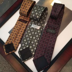 Other - Sharp 3 Ties! 😎Wong / Piattelli / Culwell & Son